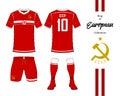 Soviet Union football national team uniform.