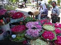 Sow flowers buyers choose that will be used to on the grave ahead ied in solo central java indonesia Stock Photos