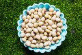 Soy bean the on yhe white ground Royalty Free Stock Photography