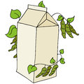 Soy milk an image of a carton of Royalty Free Stock Images
