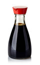 Soy sauce bottle of on white background Stock Image