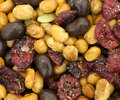 Soybean cranberry trail mix close view Royalty Free Stock Photo
