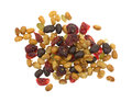 Soybean cranberry trail mix on a white background Royalty Free Stock Photo