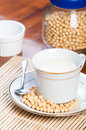 Soybean milk freshly brewed ready to drink Stock Images