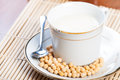 Soybean milk freshly brewed ready to drink Stock Photo