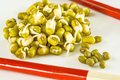 Soybean sprouts Royalty Free Stock Photo