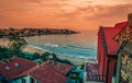 Sozopol beach resorts beautiful seaside in the town in bulgaria Stock Photo