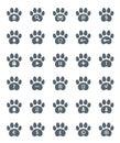 Spår av cat icons set Royaltyfri Fotografi