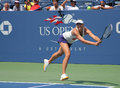 Spülung ny august viermal grand slammeister maria sharapova übt für us open bei louis armstrong stadium könig national tennis Lizenzfreies Stockfoto