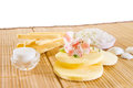 Spa accessories: cosmetic sponges Stock Images