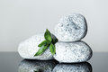 Spa background with pebbles pyramid and bamboo Stock Photography