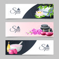 Spa Banner Set Royalty Free Stock Photo