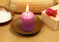 Spa candle Royalty Free Stock Images