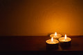 Spa candle romantic background Royalty Free Stock Photo