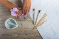 Spa essentials for a manicure Royalty Free Stock Photo