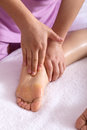 Spa foot by touch Royalty Free Stock Photo