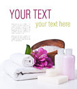 Spa and hygiene concept, isolated, ready template Stock Image