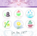Spa icon set Royalty Free Stock Photos