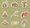 Spa icons minimalistic vector set Stock Photos