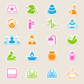 Spa icons set illustration eps Royalty Free Stock Photos