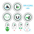 Spa icons set for your design Royalty Free Stock Photography