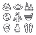 Spa line icons