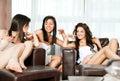 Spa lounge women talking Royalty Free Stock Photo