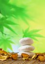 Spa massage border background with stone Royalty Free Stock Photo