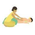 Spa Massage vector illustration.