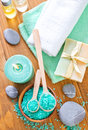 Spa objects on a table Stock Images