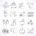 Spa and relax objects icons vector icon set Stock Image