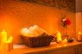 Spa salon decoration detail Royalty Free Stock Photo