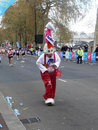 Spa�-Seitentriebe am London-Marathon 25. April 2010 Stockfotografie