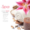 Spa setting in brown tone Royalty Free Stock Photo