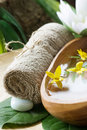 Spa setting with flower Stock Photography