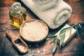 Ajuste oliva jabón y mar sal