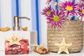 Spa setting with natural soaps and flower Stock Photography