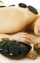 Spa.Stone-massage Stockbild
