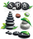 Spa stones Royalty Free Stock Photos
