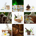 Spa theme photo collage composed different images Stock Photos