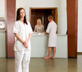 Spa Therapist Portrait Stock Photography
