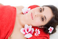 Spa treatment beautiful young woman getting Royalty Free Stock Photography