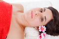 Spa treatment beautiful young woman getting Royalty Free Stock Images