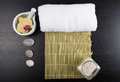 Spa treatment essentials Royalty Free Stock Photo