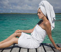 Spa treatment - tropical vacation Royalty Free Stock Images