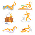 Spa_wellness_sauna_icons Stock Image