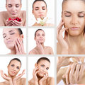 Spa woman collage Royalty Free Stock Images