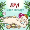 Spa woman gets relax spa massage