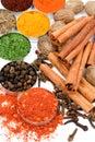 Spaanse peper en andere kruiden Stock Afbeelding