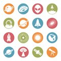 Space - Aerospace Technology Circle Colorful Flat Icon